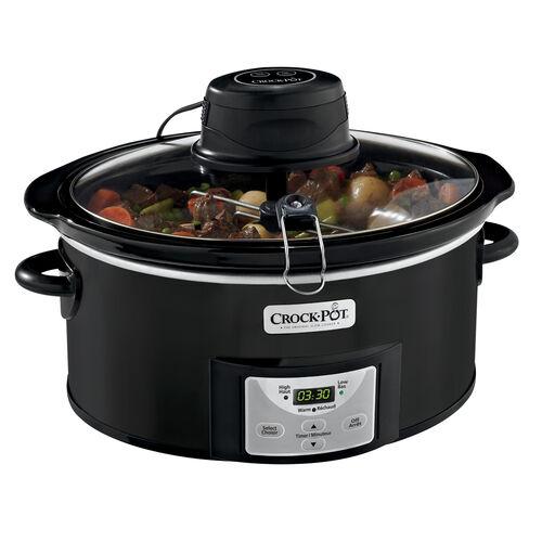 Crock-Pot® 6Qt. Oval Programmable Digital Slow Cooker with iStir™ Stirring System, Black