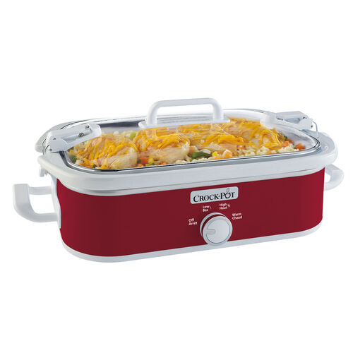 Crock-Pot® Casserole Crock™ 3.5Qt. Slow Cooker, Red