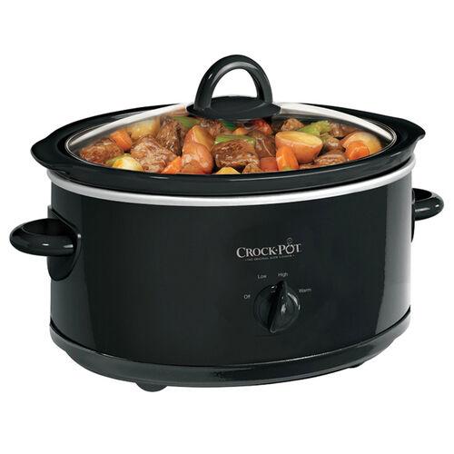 Crock-Pot® 7Qt. Oval Manual Slow Cooker, Black