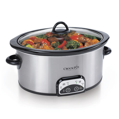 Crock Pot 174 4qt Oval Manual Slow Cooker Stainless