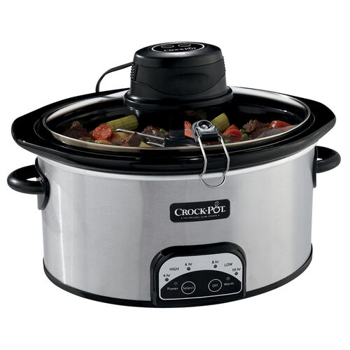 Crock-Pot® 6.5Qt. Oval Programmable Slow Cooker with iStir™ Stirring System, Stainless