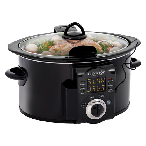 Crock-Pot® Smart-Pot™ 6Qt. Oval Programmable Slow Cooker with Probe and Countdown, Black