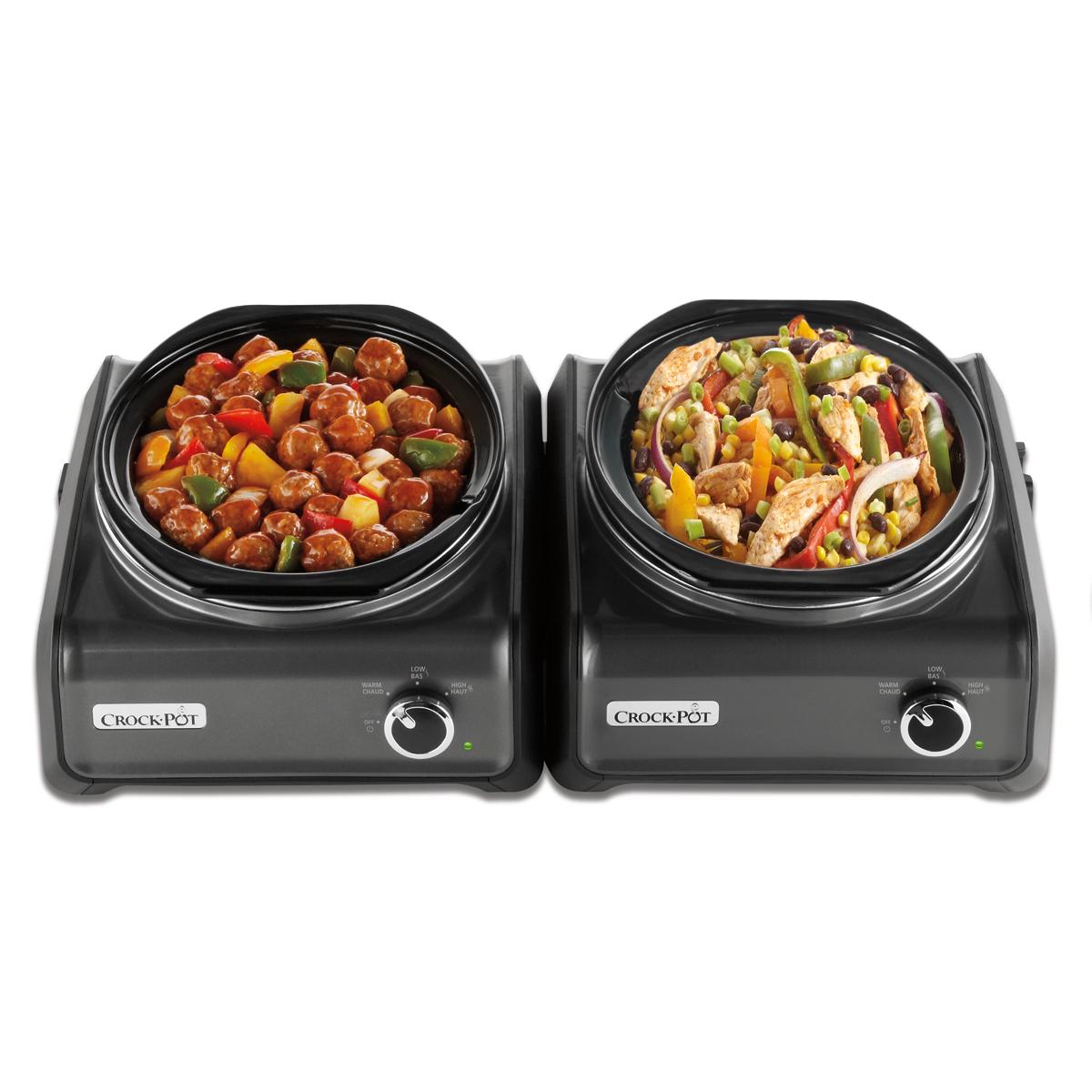 Crock-Pot® Hook Up™ 3.5 Quart Connectable Entertaining System, Charcoal, 2-Pack