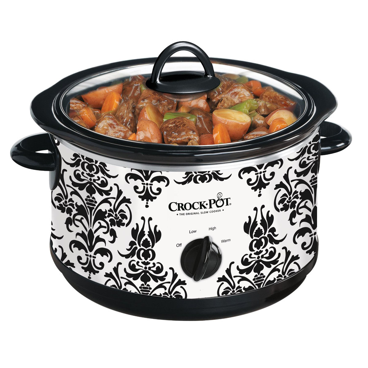 SCR450PT 033 1 crock pot� 4 5qt round manual slow cooker, damask scr450pt 033 Crock Pot Manual PDF at crackthecode.co