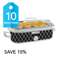 Get 10 bonus AIR MILES® Reward Miles with the purchase of one Casserole Crock™ between July 5, and August 31, 2016. Limit of one bonus offer on this item per collector number per transaction. Does not reflect any promotional discounts applied at checkout.