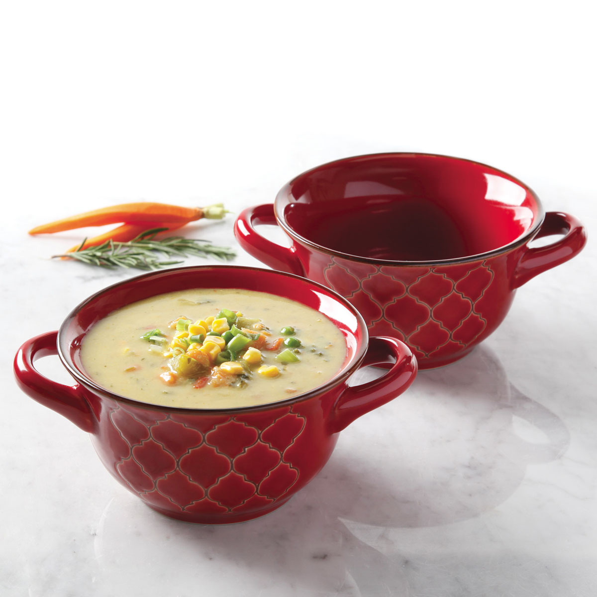 Crock Pot 174 Mathiston 27 Oz Double Handled Ceramic Soup
